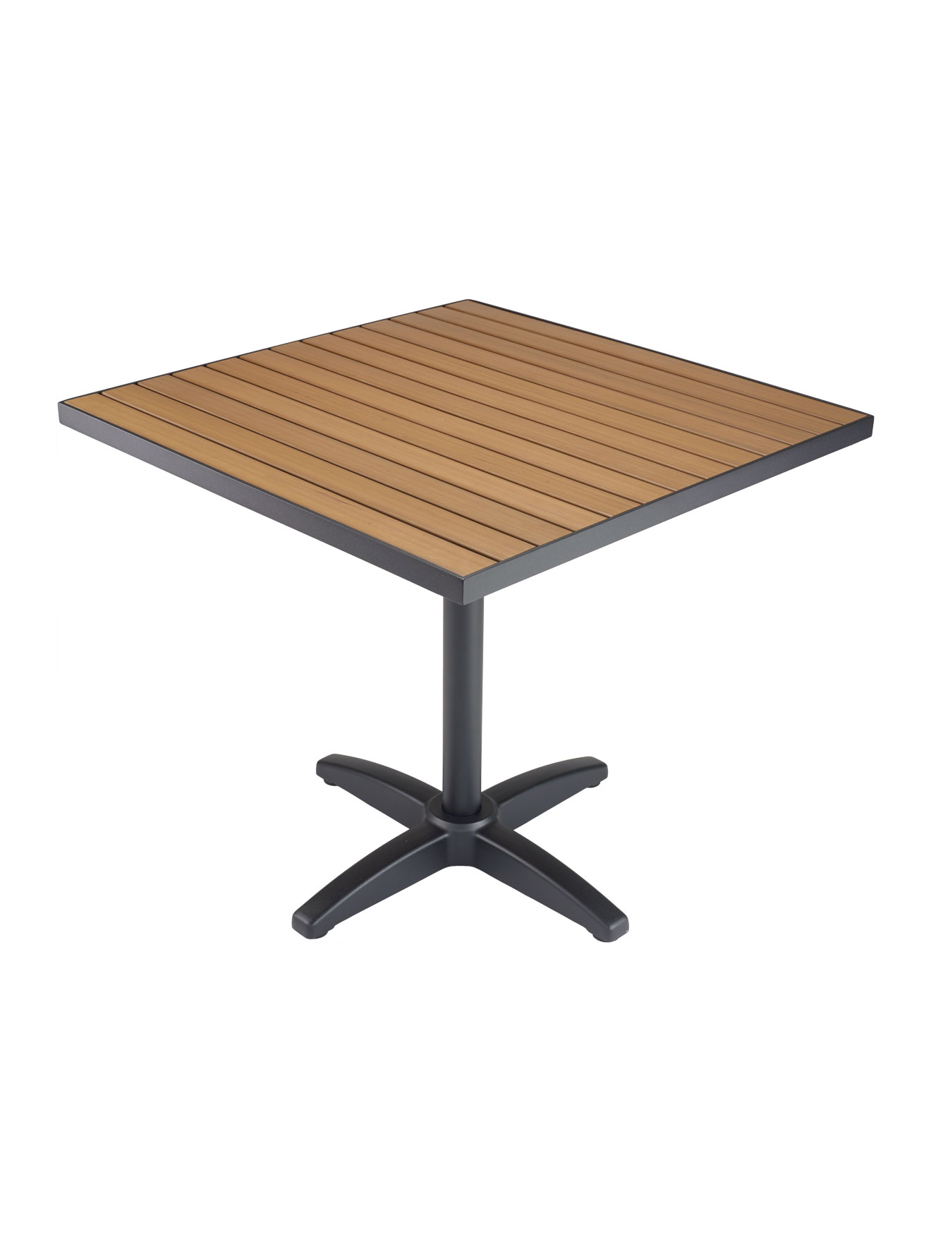 Picture of: Faux Teak Metal Frame Square Table Top Sttapt Commercial Restaurant Furniture Table Tops